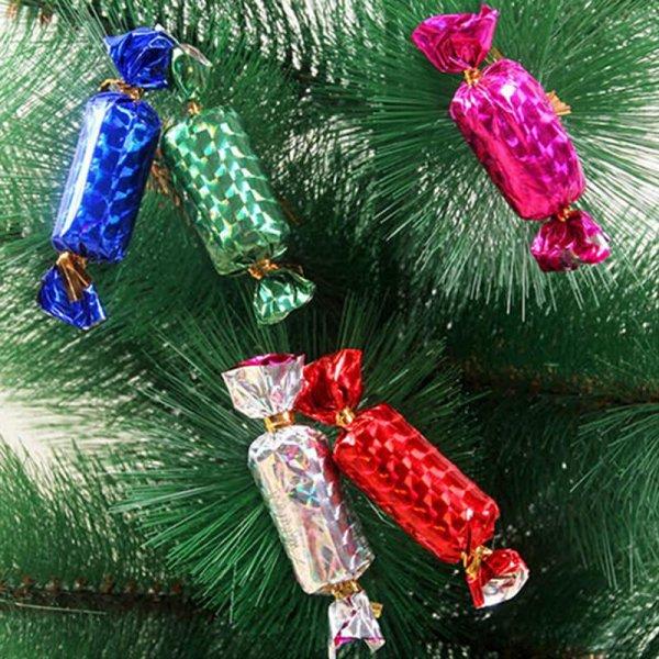 конфеты на елке украшения