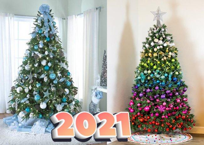 украшение елки на новый год 2021