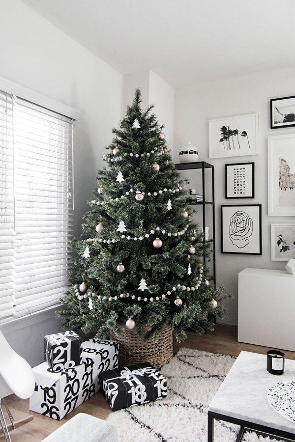 украшение елки 2021 в стиле минимализма
